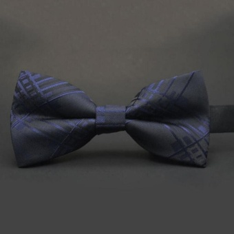 Moonar Men Adjustable Silk And Rayon Satin Dot Tuxedo Classic Party Novelty Bow Wedding Ties ( #11 ) - intl