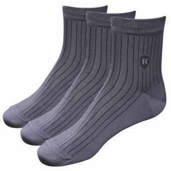 Combo 3 đôi tất-vớ nam màu xám Cotton công sở Donakein- High quality products of Vietnam