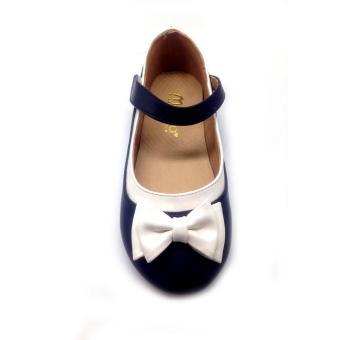 Giày búp bê bé gái Mattino (Xanh nơ trắng )