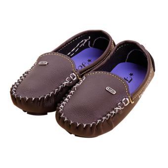 Giày mọi bé trai da PU mẫu M1 Brezzy (Màu nâu đất)