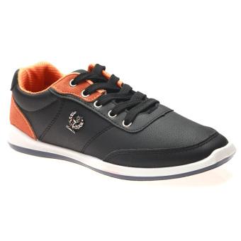 Giày Sneaker Thể Thao Nam Hnp Gn022 (Đen Cam)