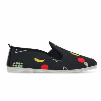 Giày Lười Flossy W Elda (Đen Họa Tiết Trái Cây)