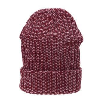 Women Men Knit Winter Warm Ski Crochet Slouch Hat Cap Beanie (Red) - intl