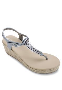 Giày sandal nữ Holster HEAVEN ESPADRILLE (Bạc)