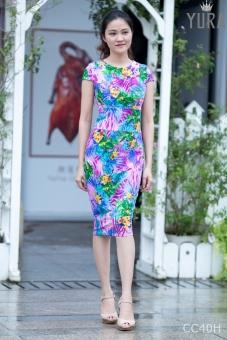 Đầm hoa body năng động CC40H