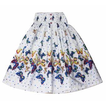 Đầm váy 2 trong 1 bé gái 7-8 tuổi Tri Lan DBG084 (Trắng)
