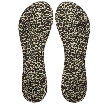 Leopard print 1 Pair Soft Step Insoles cushion Instant Comfort Shoe Arch Support High Heels - intl