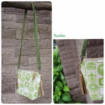 Crossbody Bag Họa Tiết Nhãn Xanh Trum Bo Handmade CBB06 - Boho