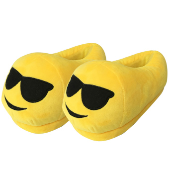 Women Cartoon Face Expression Style Winter Indoor Plush Slipper Soft Warm Plush Slippers Average Size for CN 36-40 / EU 36-40 / US 5-9 Style C - intl