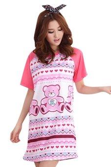 Váy ngủ free size Family Shop VNF04 (Hồng)