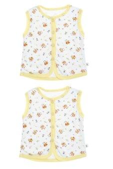 Bộ 2 áo khỉ bông trẻ em Nanio A0002-Vv (Vàng)
