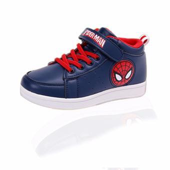 Giày thể thao bé trai Spider Man từ 6-12 tuổi (tím than)
