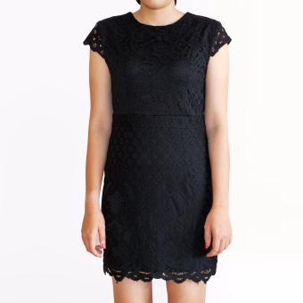 Đầm ren OYO FASHION (đen)