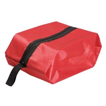HKS Nylon Oxford Waterproof Shoes Bag Travel Outdoor Storage Tote Dust Bag Red - intl
