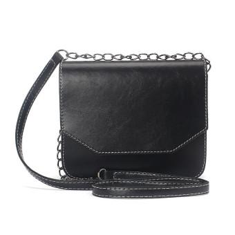Women Retro Imitation leather Shoulder Bag Satchel Handbag Messenger Black