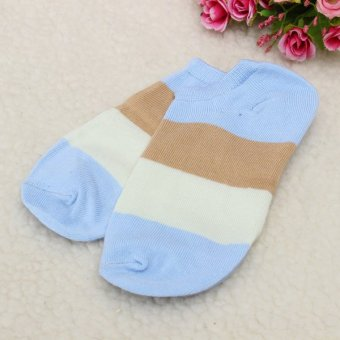Women Cute Candy Color Girl Ankle Socks Low-Cut Casual Soft Cotton Sport Hosiery Blue - Intl