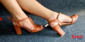 Giày cao gót hở mũi Siêu thị Gia Đình CG016 (Nâu)