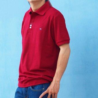 Áo thun nam ngắn tay cổ bẻ MPShop TM024 (Đỏ đô)