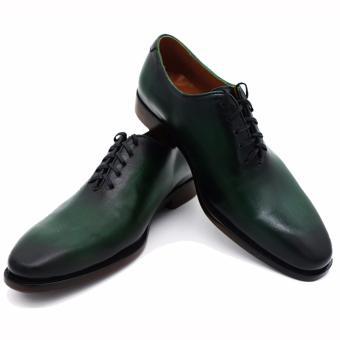 Giày da Patina Pierre Cardin LB052 - Xanh Rêu