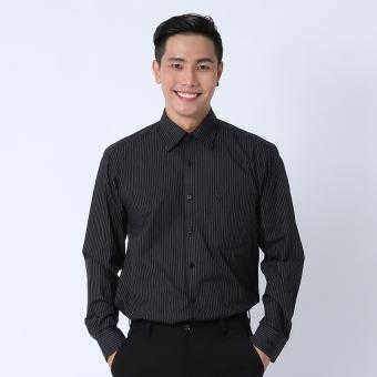 Áo sơ mi công sở tay dài Việt Tiến 1E2832BT4/L3 (Đen sọc trắng)