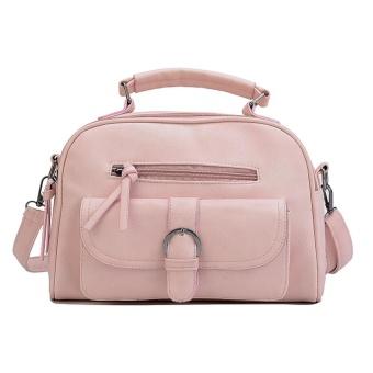 Women Retro Crossbody Bag Small Shoulder Bag Messenger Bags Tote Handbag Pink - intl