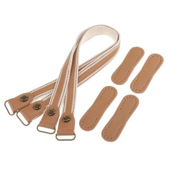 BolehDeals 2 Pieces DIY Pu Purse/Bag Handles Replacement Straps Light Coffee - intl