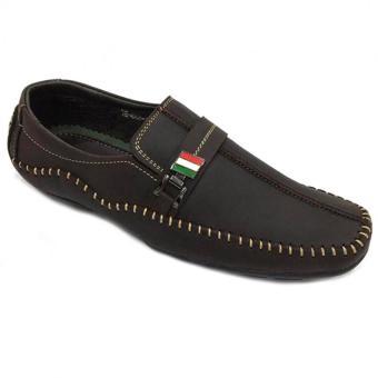 Giày lười da thật nam Everest (Nâu) C136