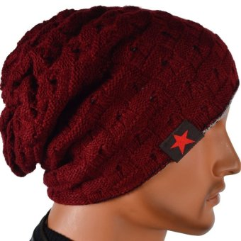 Unisex Winter Skull Chunky Women Knit Beanie Reversible Baggy Cap Warm Hat - Intl