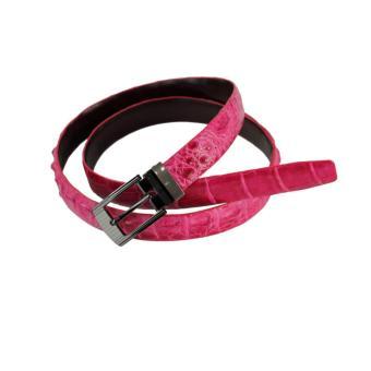 HL5205 - Thắt lưng nữ da cá sấu Huy Hoàng màu hồng