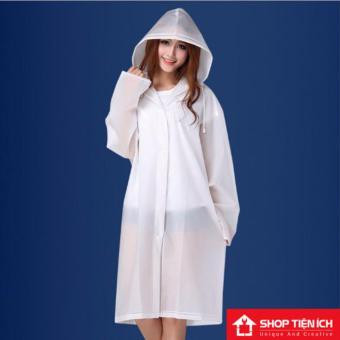 Áo đi mưa thời trang phong cách hiện đại (Đen)