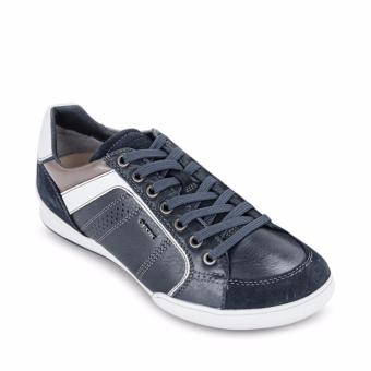 Giày Sneaker Da Geox U HOUSTON A (Xanh Navy)