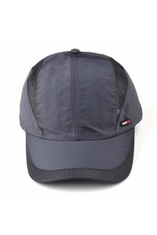 Moonar Fashion Men's Quick drying baseball cap (Deep gray) - intl