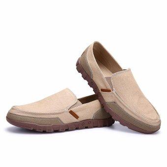 Canvas Shoes Men 2017 Lazy Shoes Canvas Men Slip on Shoes - intl