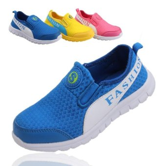 Size 31-40 Children's Fashion Shoes Sports Shoes Breathable Casual Shoes Walking Shoes Sneakers Slip On - intl