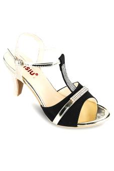 Giày cao gót hở mũi Sarisiu XN560 (Đen)