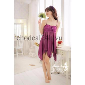 Áo đầm ngủ quyến rũ Angel CDAN03 (tím)