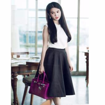 Chân váy xòe vintage cao cấp (đen)- V07917100D