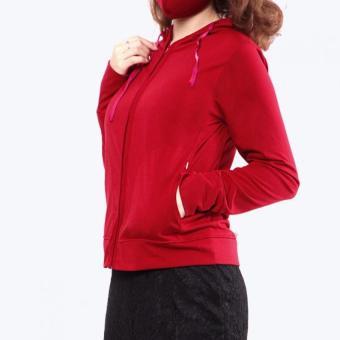Bộ 2 áo khoác chống nắng Cotton (Đỏ đô)