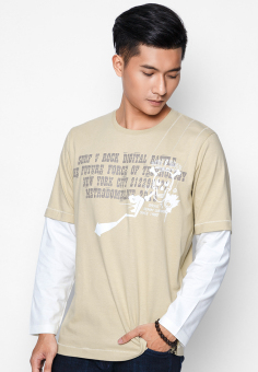 Áo phông OASIS Thái Lan MTXL496 (Be)