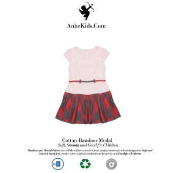 Baby Pink Checked Dress 7-8 y