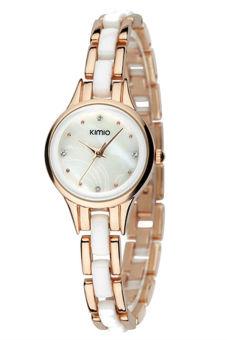 Đồng hồ nữ dây thép không gỉ KIMIO K450L (Vàng)