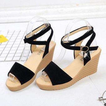 Women Sandals 2017 Summer New Open Toe Fish Head Fashion platform High Heels Wedge Sandals female shoes women shoes - intl