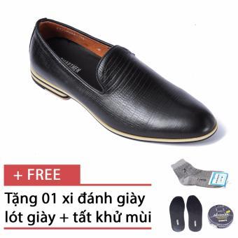 Giày da nam công sở thiết kế trẻ trung SMARTMEN GL-555, tặng kèm 1 hộp xi, 1 đôi lót giày, 1 đôi tất khử mùi cao cấp