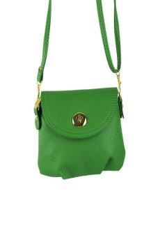 HKS Womens Handbag Satchel Shoulder bag leather Cross Body Tote Bag Purse Green - intl