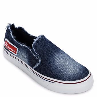 Giày lười thể thao nữ AZ79 WNTT0120020A2 (Xanh Đậm)