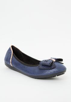Giày búp bê có nơ LARA HMF 701 Xanh dương nhạt