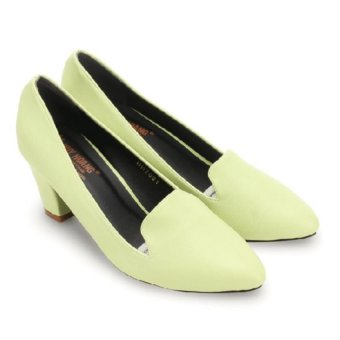 Giày nữ Huy Hoàng cao cấp kiểu vuông (Xanh lá)