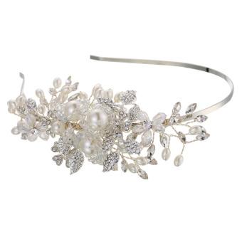 Fashion Pearl Rhinestone Alloy Bridal Hair Band Wedding Dress Headwear (Intl)