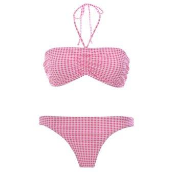Bộ bơi 2 mảnh Pink Bandeau Halter Bikini