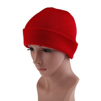 Men's Women Beanie Knit Ski Cap Hip-Hop Color Winter Warm Unisex Wool Hat - intl